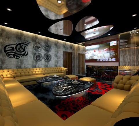 客厅吊顶后现代风格装修设计图片
