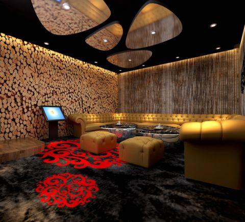 客厅沙发后现代风格装饰设计图片