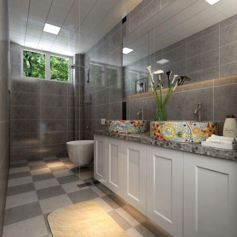 卫生间背景墙后现代风格装潢效果图