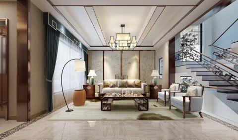 新中式风格289平米别墅室内装修效果图