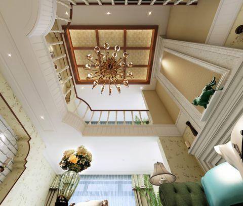 客厅吊顶田园风格装潢图片