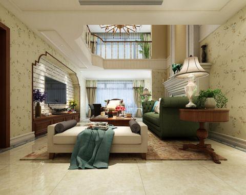 客厅电视柜田园风格装修设计图片
