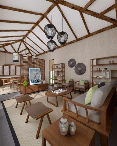 客厅吊顶中式风格装修设计图片