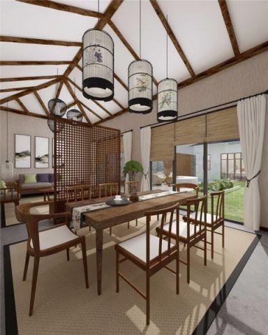 餐厅窗帘中式风格装潢设计图片