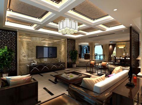 混搭风格1000平米别墅室内装修效果图