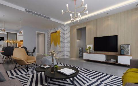 客厅电视柜北欧风格装饰效果图