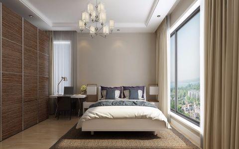 卧室窗帘北欧风格装潢效果图