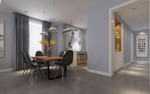 餐厅窗帘北欧风格装饰图片