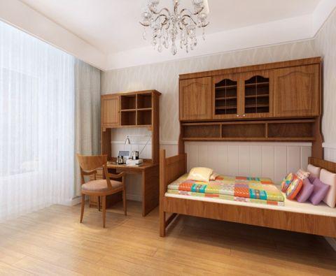 儿童房窗帘美式风格装修设计图片