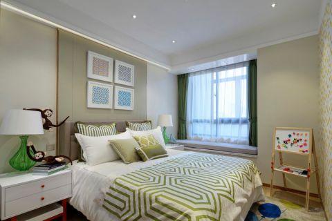 卧室窗帘北欧风格装修图片