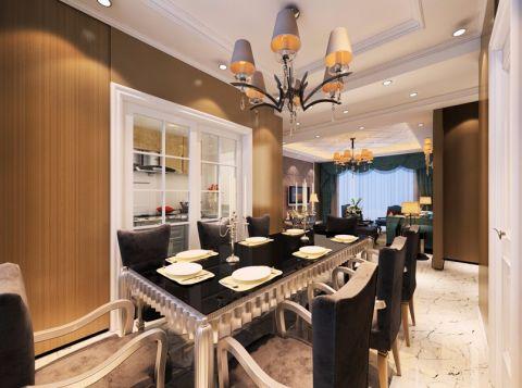 餐厅餐桌后现代风格装潢图片