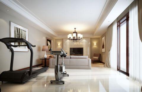 现代风格330平米别墅室内装修效果图