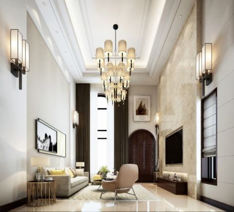 客厅窗帘现代风格装饰效果图
