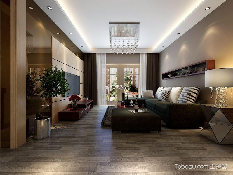 后現代風格100平米三室兩廳新房裝修效果圖