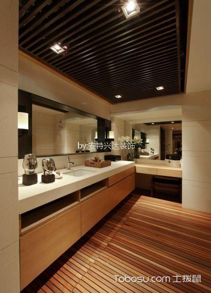 卫生间 吊顶_新中式风格118平米三室两厅新房装修效果图