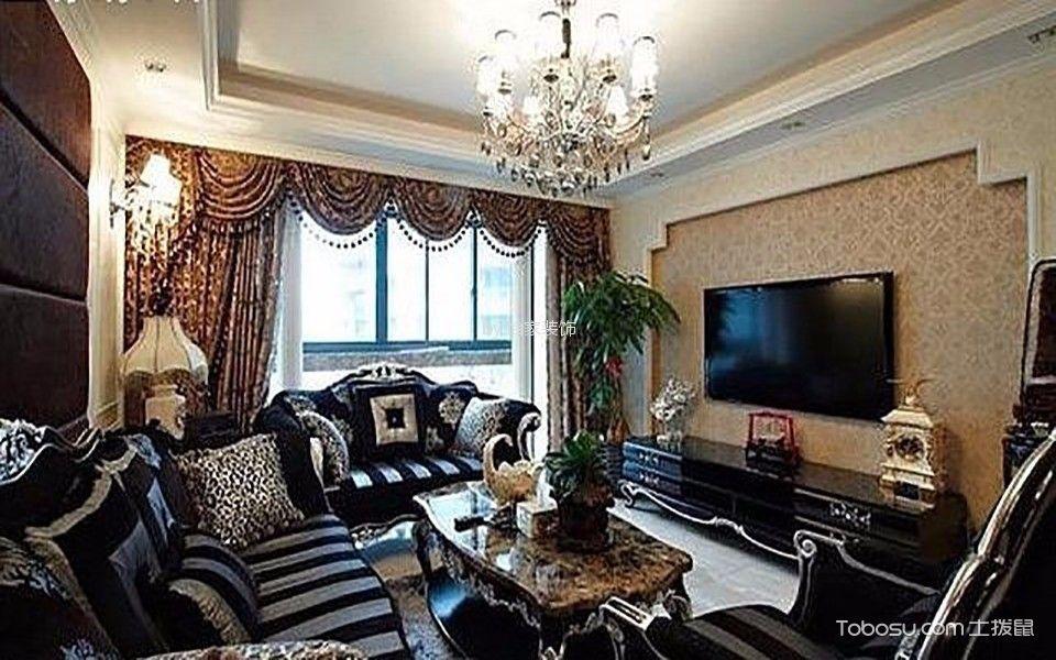 客厅窗帘美式风格装修设计图片图片