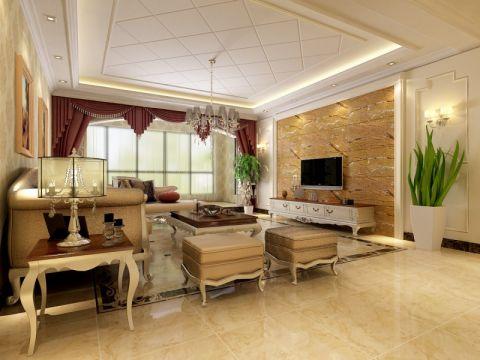 欧式风格140平米套房室内装修效果图