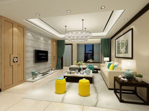 新中式风格120平米套房室内装修效果图