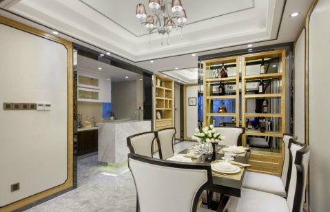 餐厅博古架新古典风格装潢设计图片