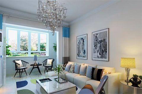 现代简约风格102平米楼房室内装修效果图