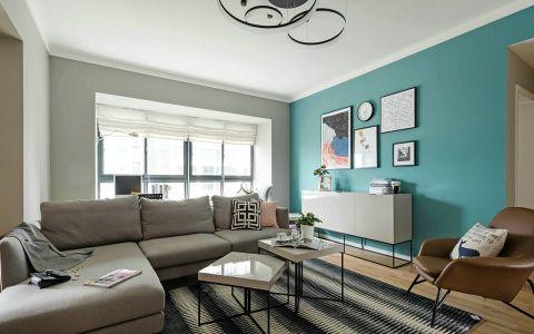 北欧风格100平米公寓新房装修效果图