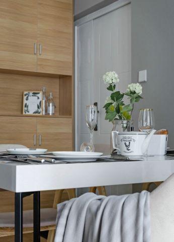 餐厅餐桌北欧风格装潢设计图片