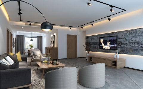 现代简约风格160平米大户型室内装修效果图