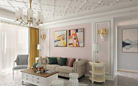 客厅照片墙现代风格装饰图片