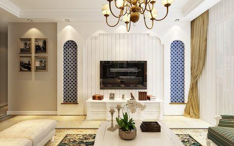 客厅窗帘欧式田园风格装饰图片