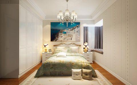 卧室床欧式田园风格装饰设计图片