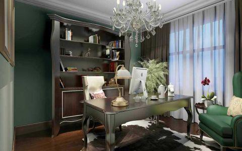 书房窗帘田园风格装修设计图片