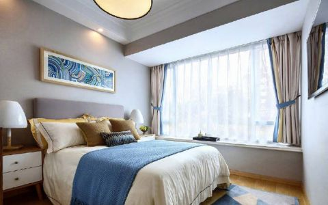 卧室床北欧风格效果图