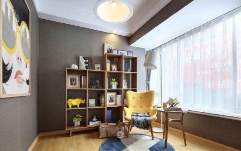 书房博古架北欧风格装饰效果图