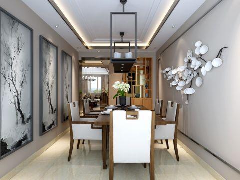 餐厅吊顶新古典风格装饰效果图
