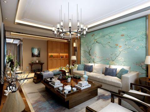 客厅茶几新古典风格装潢效果图