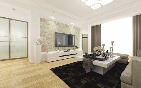 客厅电视柜新中式风格装潢效果图