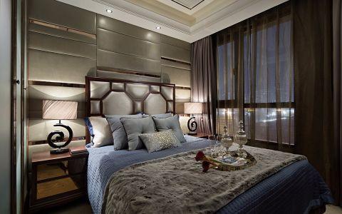 卧室床头柜简欧风格装修设计图片