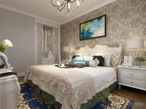 卧室床欧式风格装修设计图片