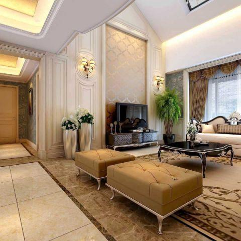 客厅电视柜欧式风格装修图片