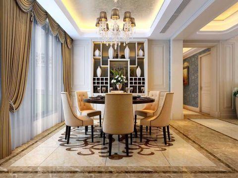 欧式风格130平米复式楼室内装修效果图