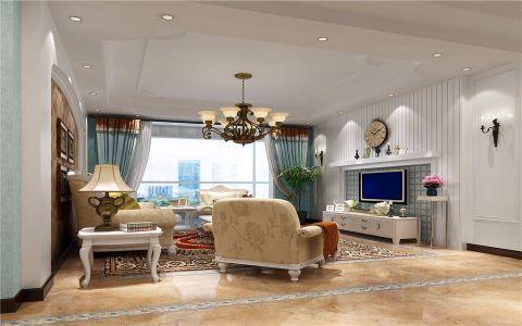 欧式田园风格120平米套房室内装修效果图
