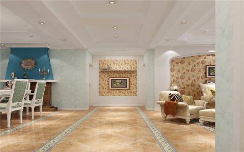 客厅走廊欧式田园风格装饰图片