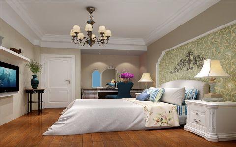 卧室床头柜欧式田园风格装潢设计图片