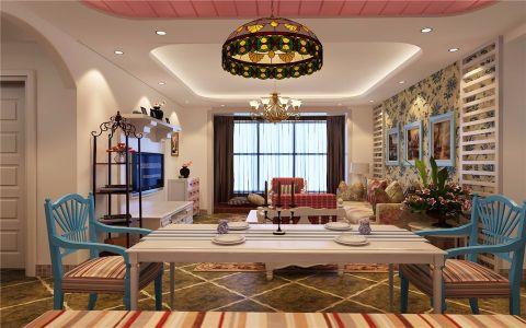 地中海风格110平米套房新房装修效果图