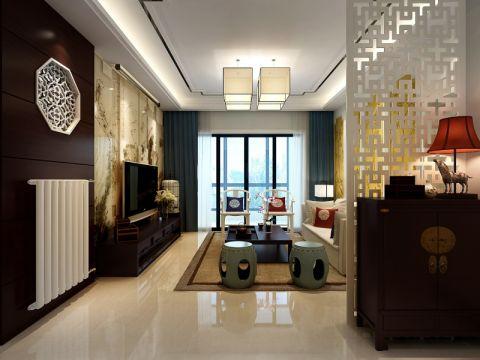 现代中式风格130平米三室两厅新房装修效果图