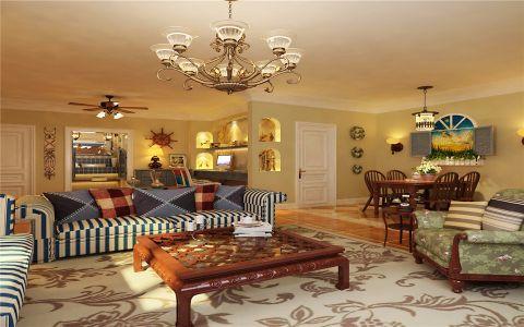 客厅茶几地中海风格装修设计图片