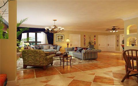 客厅地砖地中海风格效果图