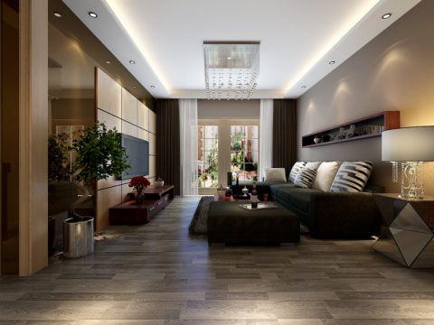 后现代风格100平米三室两厅新房装修效果图