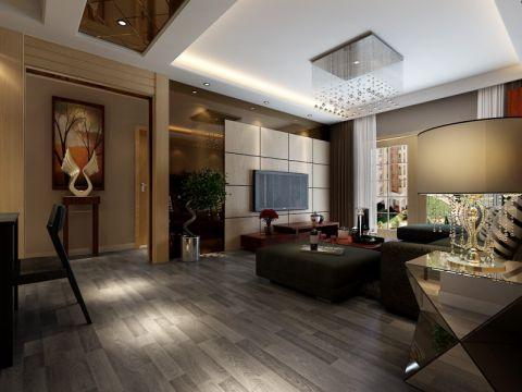 客厅电视柜后现代风格装修设计图片