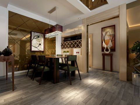餐厅餐桌后现代风格装饰设计图片